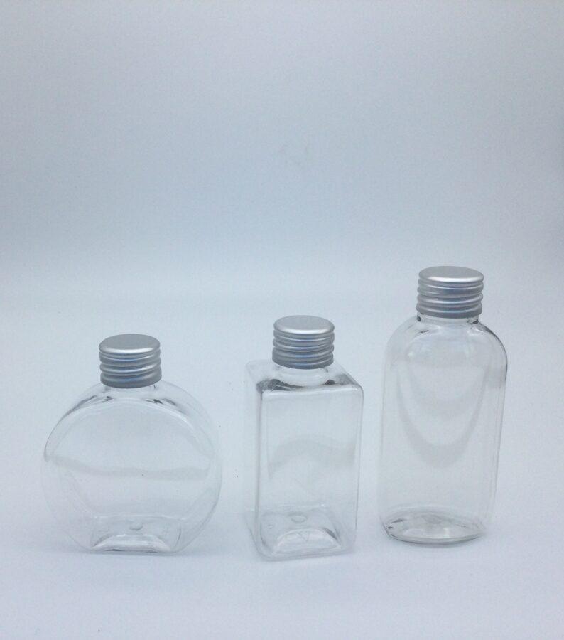 Plastmasas pudelīšu komplekts